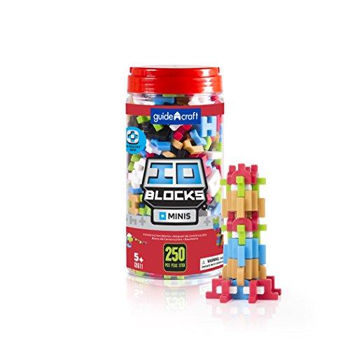 Guidecraft IO Blocks Minis - 250 Piece Set, Miniature Building STEM Educational Toy
