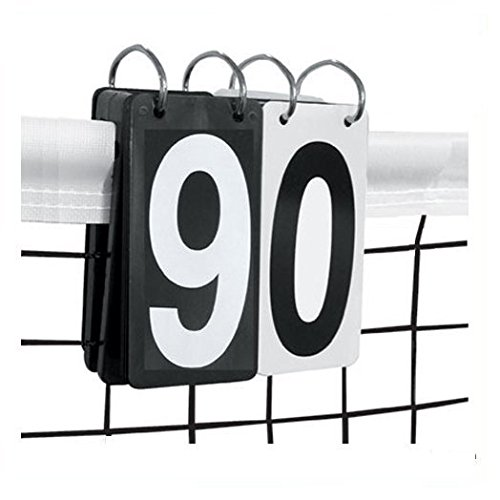 Tennis Score Keeper 0-9 Pro Set - Over the Net and Portable