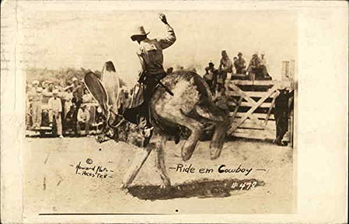 - Cowboy on Jack Rabbit Rodeos Original Vintage Postcard