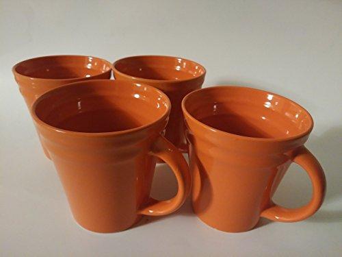 Rachael Ray Dinnerware Double Ridge Mug Set, 4-Piece