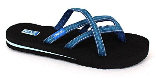 6865dab55 Teva Women s Olowahu Flip-Flop - 9 B(M) US - Pintado Blue - Buy Online in  Oman.