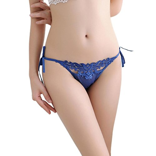 DongDong Women Thong Bragas Sexy Panties Thong Lace Word Pants Ladies Briefs Underwear