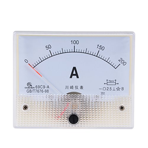 uxcell/® Fine Tuning 0-200A Scale DC Current Panel Meter Analog Amperemeter