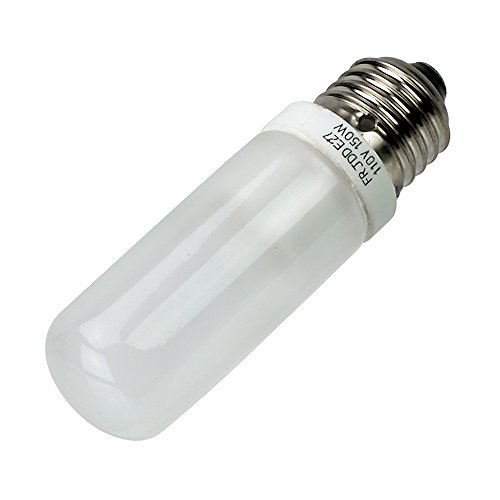 Fotodiox JDD Type 150w 110v E26/E27 (Standard Edison Screw) Frosted Halogen Light Bulb, Universal Replacement Modeling Bulb for Photo Studio Strobe Lighting (800 Monolight)