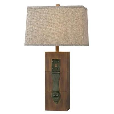 Kenroy Home Locke Table Lamp - Dark Wood Grain