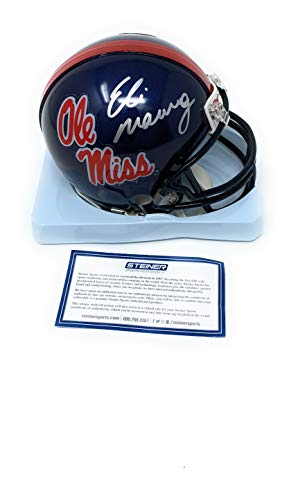 Eli Manning Mississippi Old Miss Rebels Signed Autograph Mini Helmet Steiner Sports Certified