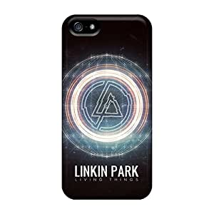 Top10cases Apple Iphone 5/5s Shockproof Hard Phone Covers Support Personal Customs HD Linkin Park Living Things Pictures [SPE70qmJD]
