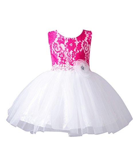 del del niña la del Rose de ZAMME partido baile del Vestidos Bautismo bautismo formales bautizo HqnTwY8na
