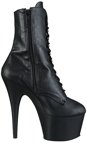 Negro Blk ADORE Pleaser Botas Negro Blk Leather Faux Matte 1020 Mujer para wqYUBS0xU