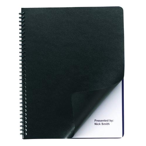 Corner Square Cover Presentation (Swingline GBC Regency Premium Presentation Covers, Round Corners, Black, 50 Pack (2001712A))