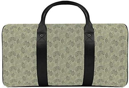 ペールグリーンの炭効果ホップリピートサイズ1 旅行バッグナイロンハンドバッグ大容量軽量多機能荷物ポーチフィットネスバッグユニセックス旅行ビジネス通勤旅行スーツケースポーチ収納バッグ