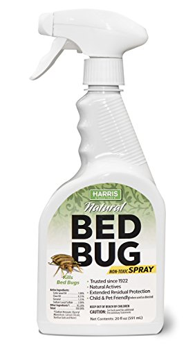 Harris Plant Based Bed Bug Killer, Fast Acting Non-Toxic Spray with Extended Residual (20oz)