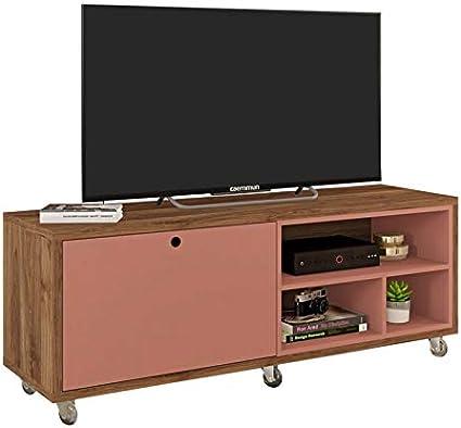 Caemmum - Mueble de TV de 55 Pulgadas (Roble y ladrillo): Amazon ...