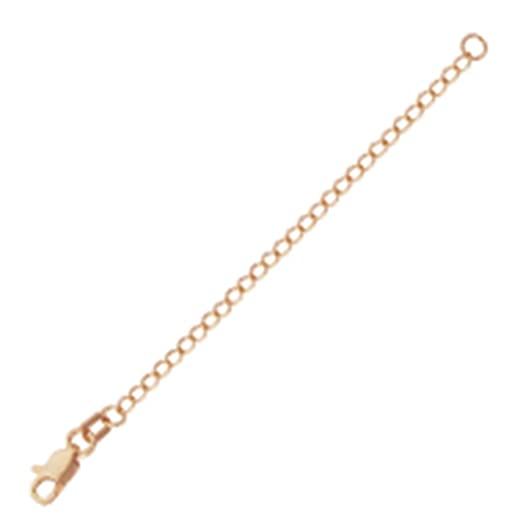 Amazoncom 14k Rose Gold Extender Chain 3inch Length Jewelry