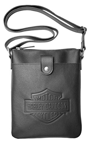 Harley Davidson Embossed Vertical Crossbody ZWL4703 BLACK