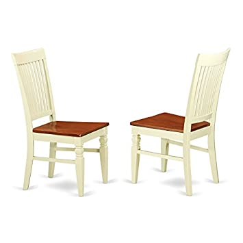 East West Furniture ANWE5 BMK W Antique Tables, 5 Pieces, Buttermilk Cherry