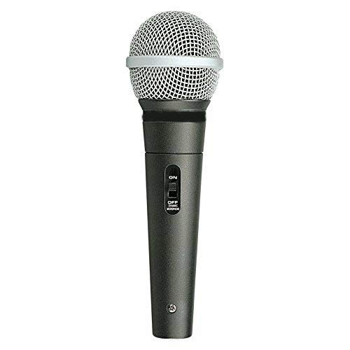 VELTIN® Aud 98Xlr Unidirectional Dynamic Corded Microphone with XLR Cable  Black