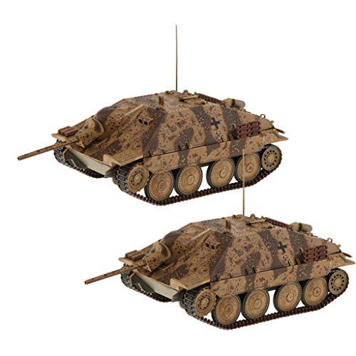 2pcs 1/32 Scale Tank Models World War II German Jagdpanzer 38(t) Hetzer Tanks Military Vehicle Toys from Unknown