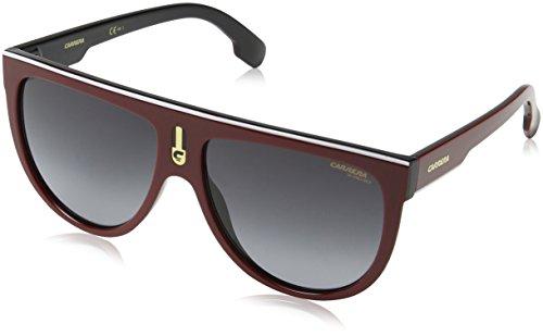 Carrera Men's Flagtops Round Sunglasses, Red Black/Dark Gray Gradient, 60 - Carrera And Black Red Sunglasses