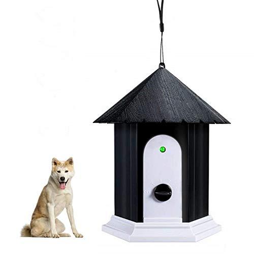Zoohao Ultrasonic Bark Control Device, No Barking Device, Outdoor Bark Box, Stop Dog Barking Device in Birdhouse Shape