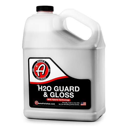 - Adam's H2O Guard & Gloss - Revolutionary Hybrid Top Coat Technology Combines Silica Sealant, Polish Wax, and Quick Detailer Technology - Seals, Shines, and Protects All Exterior Surfaces (1 Gallon)