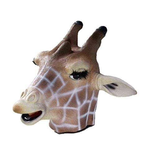Forum Novelties Giraffe Latex Mask Animal Halloween Adult Costume (Giraffe Deluxe Latex Mask)