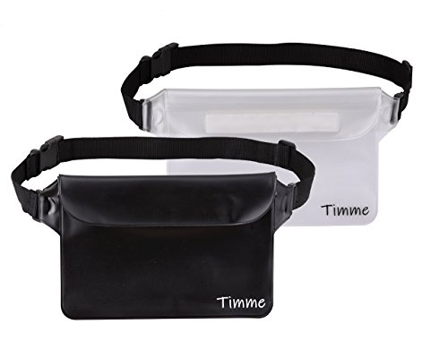 Timme Waterproof Pouch Waist Shoulder Strap | Perfect at Boating Fishing Kayaking Swimming Running Beach Water Sports (2 Pack) by Timme