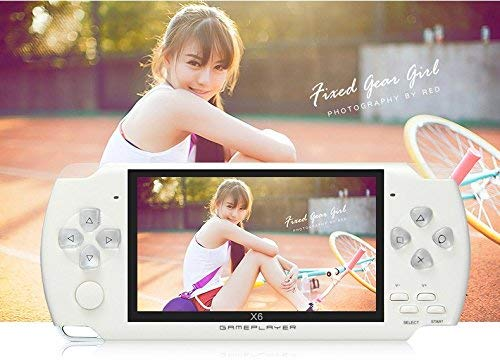 JXD 4.3 inch 8GB Handheld Portable Game Console Built in 1200+Real Video Games for gba/gbc/SFC/fc/SMD Games mp3/mp4/mp5/DV/DC Function (White) by JXD (Image #8)