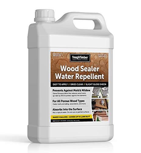 ToughTimber - Waterproof Deck Sealer, Wood Sealer, Cedar Roof Sealer - Great for Porous Wood As Waterproof Sealer and Water Repellent
