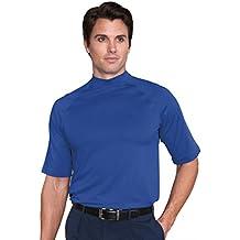Monterey Club Mens Dry Swing Drizzle Texture Mock Shirt #1169