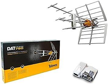 Kit Antena TDT LTE 4G (C21-60) 32dB + Alimentador: Amazon.es ...