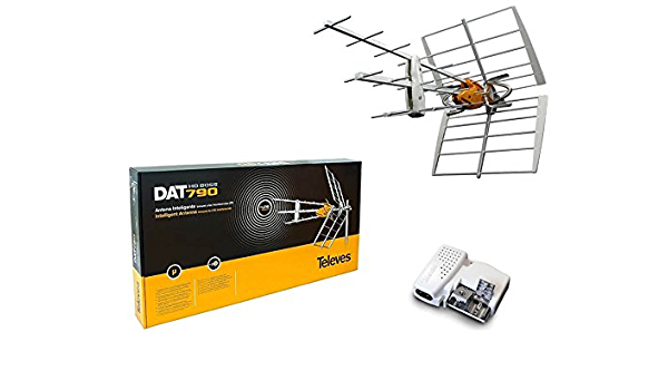 Kit Antena TDT LTE 4G (C21-60) 32dB + Alimentador: Amazon ...