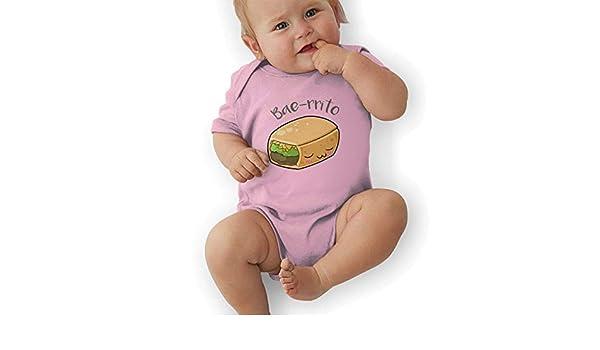 Toddler Baby Girls Bodysuit Short-Sleeve Onesie Bae-rrito Burrito Print Jumpsuit Winter Pajamas
