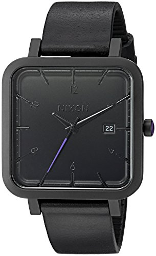 Nixon Men's 'Ragnar 36' Quartz Stainless Steel and Leather Watch, Color:Black (Model: ()