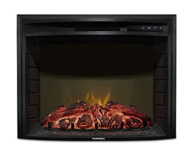 "Furrion 26"" Curved Glass Electric Fireplace"