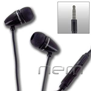 Black HandsFree EarPhone HeadPhones HeadSet With Mic. Compatible With Samsung Comment