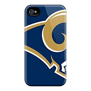 New Style Wade-cases Hard Case Cover For Iphone 4/4s- St. Louis Rams