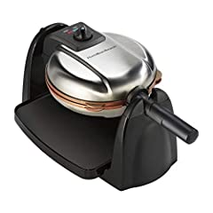 Enjoy fluffy waffles at home with the Hamilton Beach Flip Belgian waffle maker. With the ability to flip waffles during cooking, adjustable browning control and removable plates, you can create restaurant-quality results with effortless cleanup.