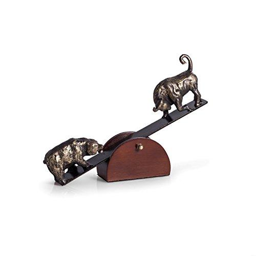(Paloma Collection AJ-B123 See-Saw Metal Bull & Bear Sculpture,)