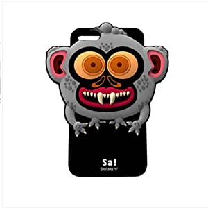 JBG Lovely Monkey iphone 5 Cute 3D Cartoon Monster Animal Series Soft Silicone Case Protective Cover for Apple iphone 5 5G 5th