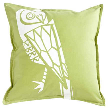 (Working Class Studio The Cassie Collection Owl Pillow, Gecko, 18-inch Square)