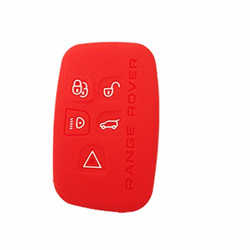 TCKEY Silicone Protective Smart Remote Key Fob Skin Key Cover Holder Key Jacket for 2010 2011 2012 LAND ROVER LR4 Range Rover Range Rover Sport Range Rover Evoque KOBJTF10A