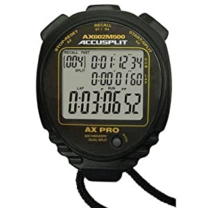 ACCUSPLIT 500 Memory Stopwatch, Black