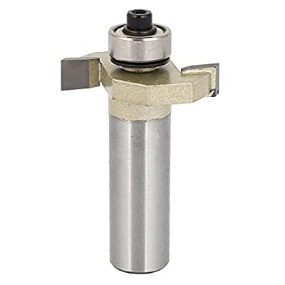 """Uxcell a16051700ux0130 1/2"""" x 1/4"""" Ball Bearing T-Slot T-Track Slotting Cutter Router Bit Cutting Tool,"""
