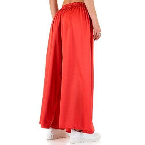 Weite Stoff Hose Für Damen , Rot In Gr. S/M bei Ital-Design
