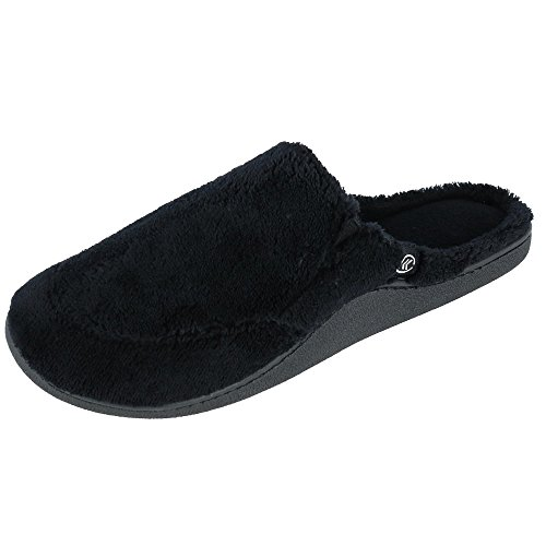 ISOTONER Mens Microterry Clog Slippers Black