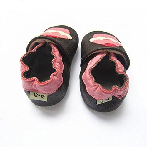 Vesi-Zapatos para bebé Primeros Pasos Zapatillas Infantiles para Niño/Niña Antideslizante Respirable Perrito Talla M:6-12 Meses Helado