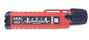 Underwater Kinetics Herculite 4AA eLED Chemical Resistant Flashlight (Red/Black)