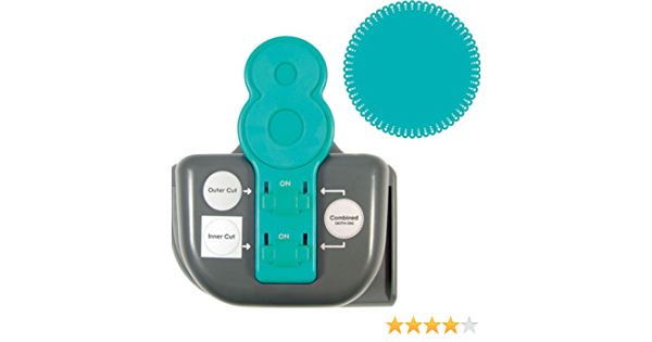 We R Memory Keepers Lucky 8 Punch Retro Scallop Paper Punch  Scrapbooking NEW