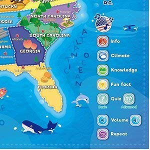 Interactive Talking USA Map for Kids TG660 - Push, Learn and Discover Over 500 Facts About The USA – Ideal Interactive Learning Toy Gift for Boys & Girls Aged 5,6,7,8,9,10 - by ThinkGizmos by Think Gizmos (Image #4)